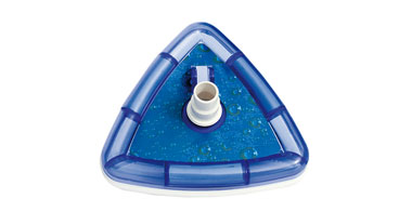 Pool bottom cleaner triangle transparent